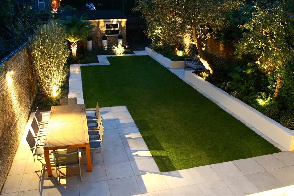 Iluminación en jardín 4